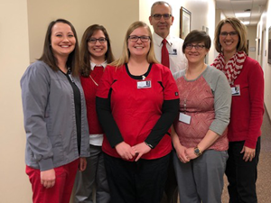 Yankton Medical Clinic, P.C. Ear, Nose & Throat employees Wear Red for Women